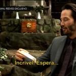 Keanu Reeves é entrevistado pelo CQC
