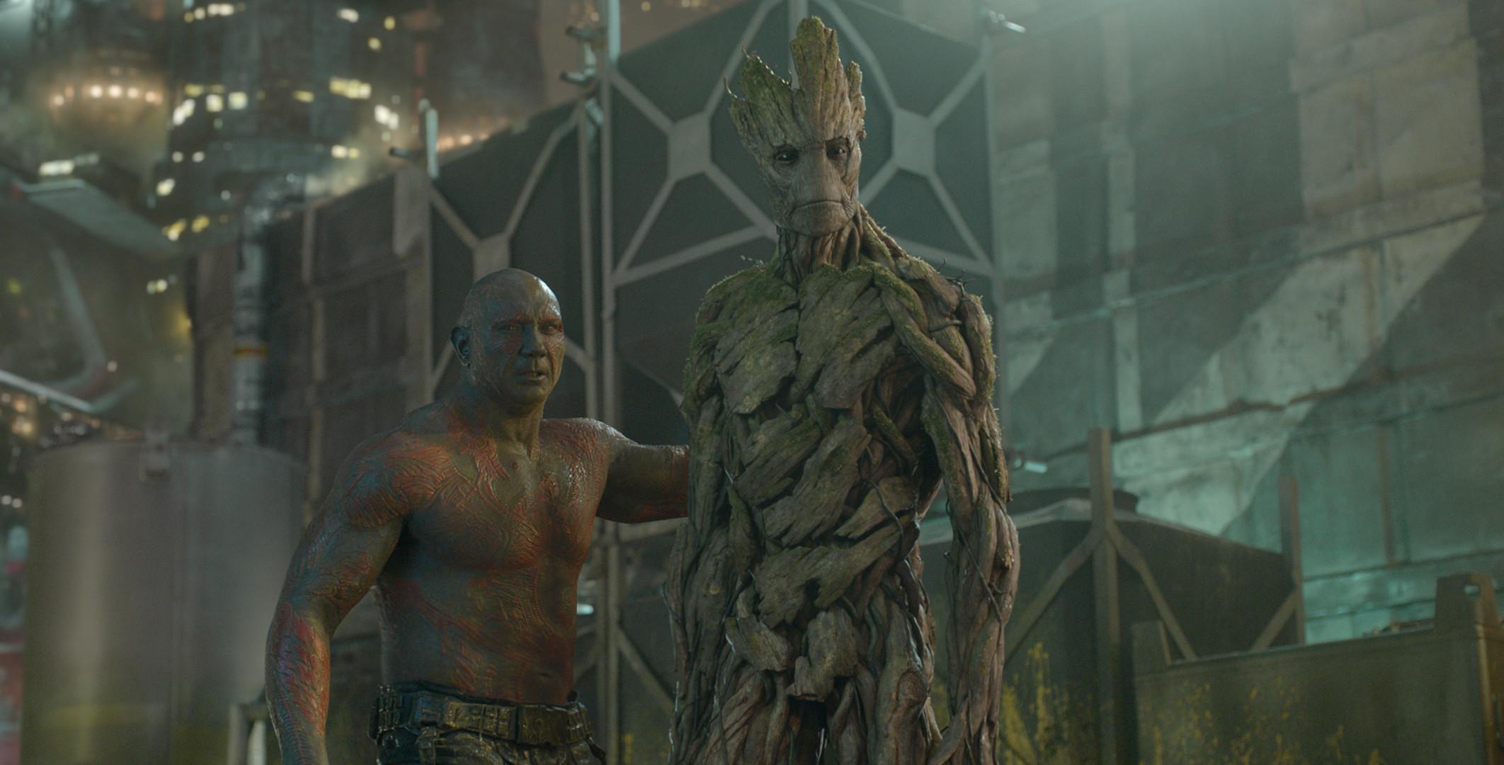 Guardiões da Galáxia - Drax e Groot