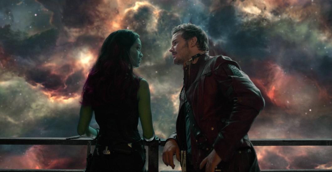 Guardiões da Galáxia - Gamora e Peter