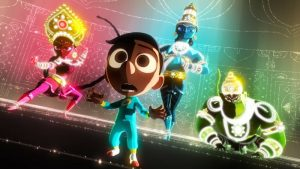 """""""Sanjay's Super Team"""" Comes to the Con — Director Sanjay Patel and producer Nicole Grindle are taking Pixar Animation Studios' new short to San Diego's Comic-Con International next month for its North American premiere and a peek behind the scenes of the production process. The Super Story Behind the Pixar Short """"Sanjay's Super Team,"""" slated for Thurs., July 9 at 11 a.m. in the Indigo Ballroom, Hilton Bayfront, reveals the unique inspiration for this incredibly personal film that features superheroes like never before. The short debuts in U.S. theaters in front of Disney-Pixar's """"The Good Dinosaur"""" on Nov. 25, 2015."""
