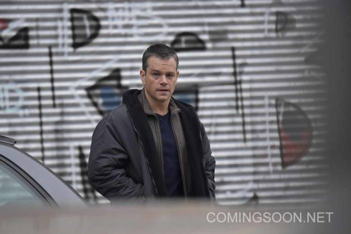 Matt Damon filming the latest Bourne movie in Berlin