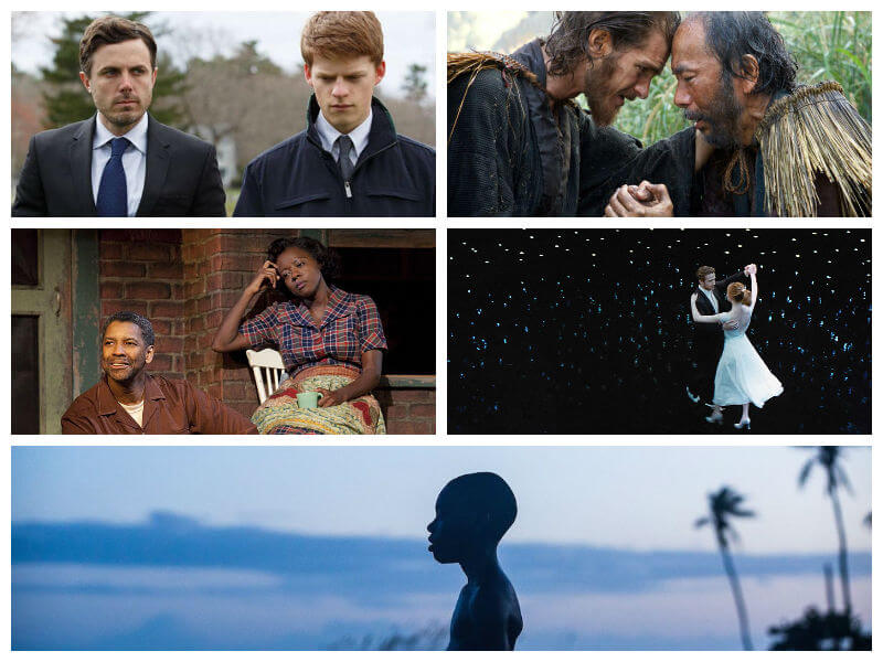 5 filmes: Manchester, Silence, Fences, La La Land, Moonlight