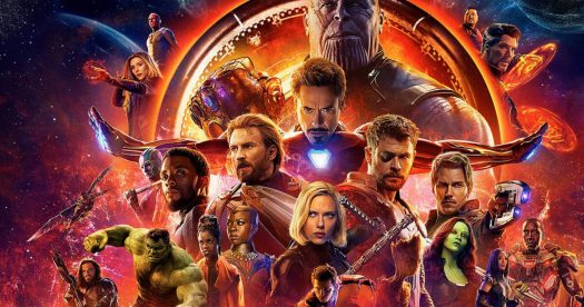 Vingadores: Guerra Infinita - imagem oficial do pôster com todos os super-heróis