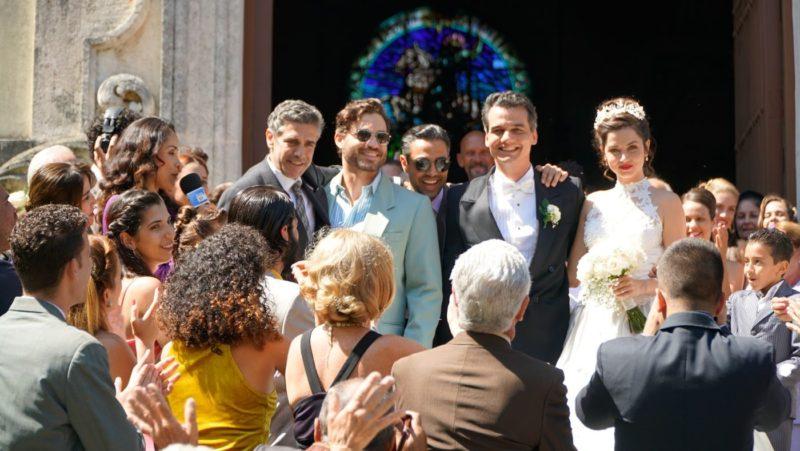 Wasp Network - cena do casamento: Sbaraglia, Moura, Ramírez, Ana de Armas - Mostra de São Paulo