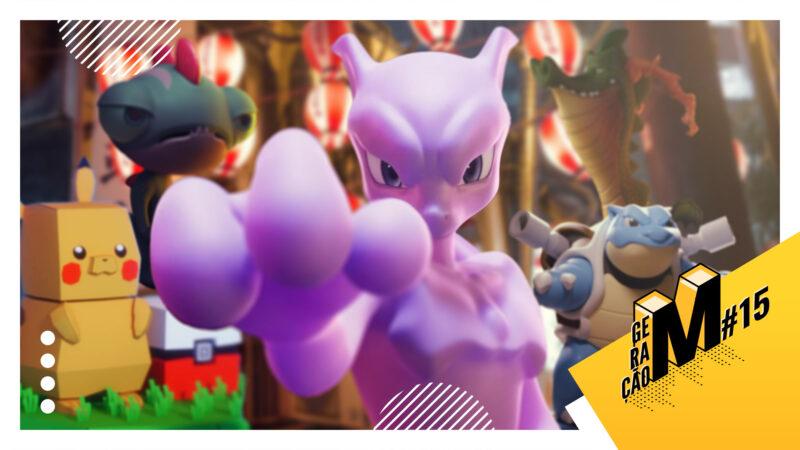 Mewtwo, pokémon e outras animações 3D