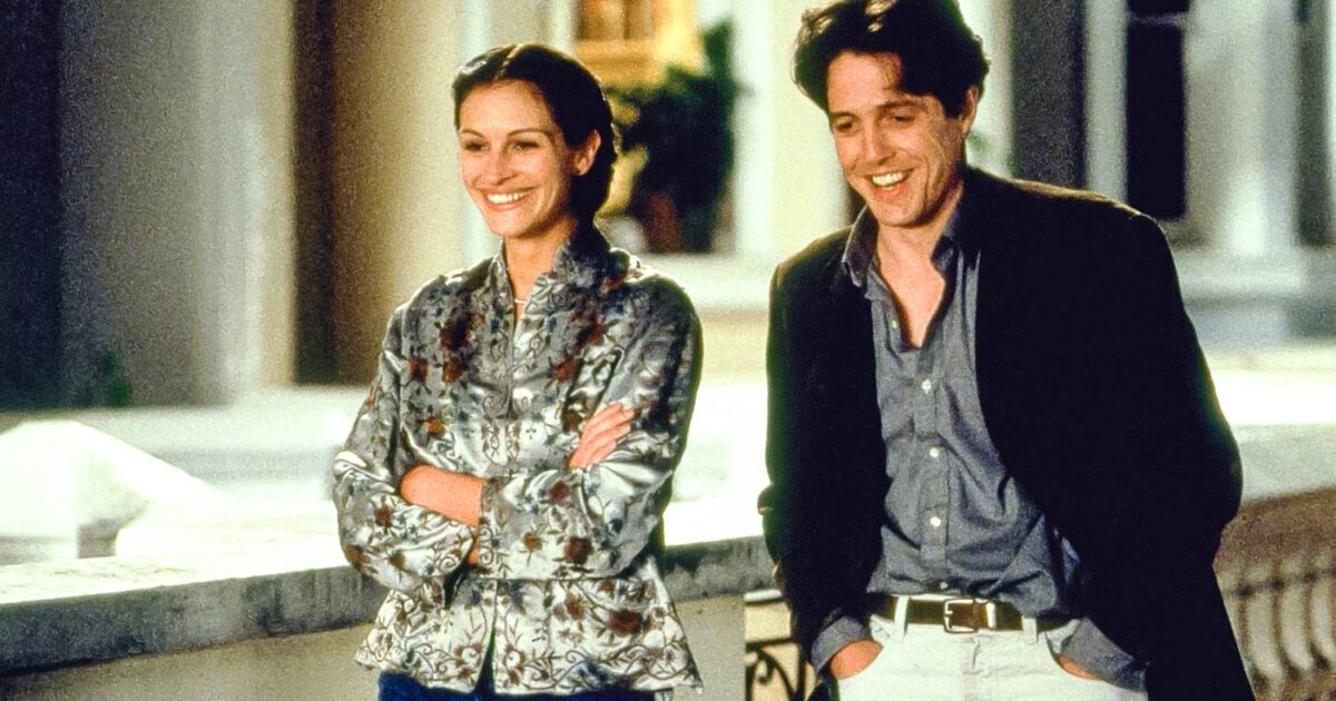 Julia Roberts e Hugh Grant em Um Lugar Chamado Notting Hill